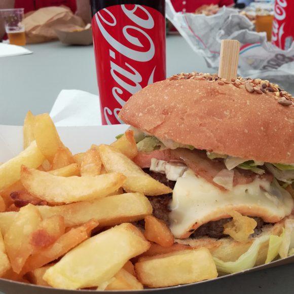 Après la rando : burger au maroilles :) Miam miam